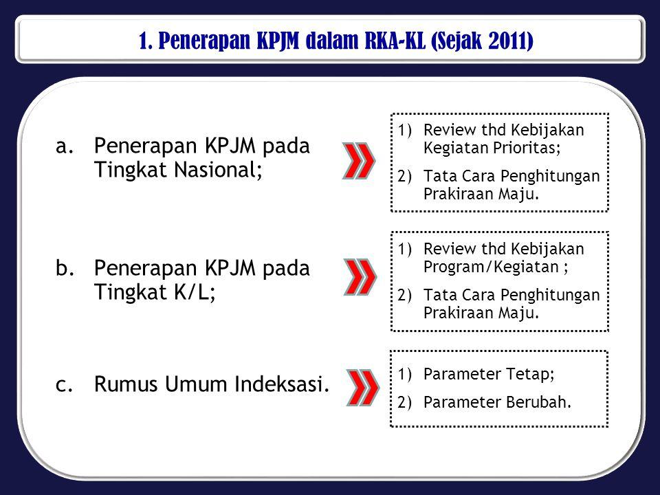 1. Penerapan KPJM dalam RKA-KL (Sejak 2011)