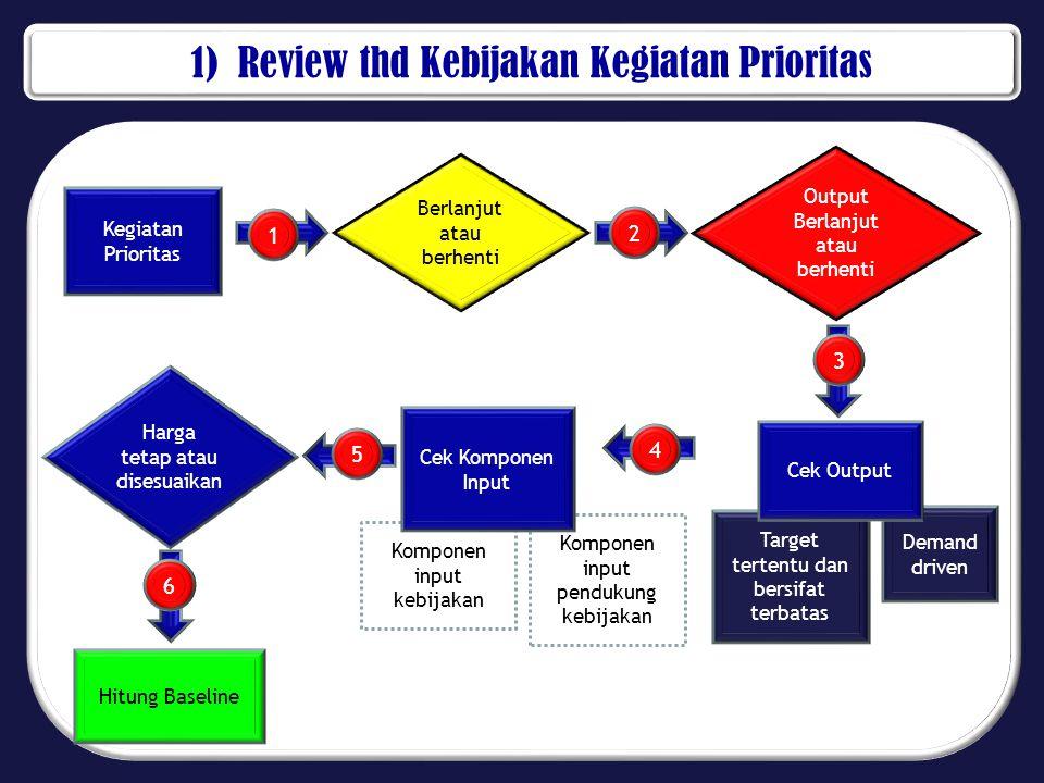 1) Review thd Kebijakan Kegiatan Prioritas