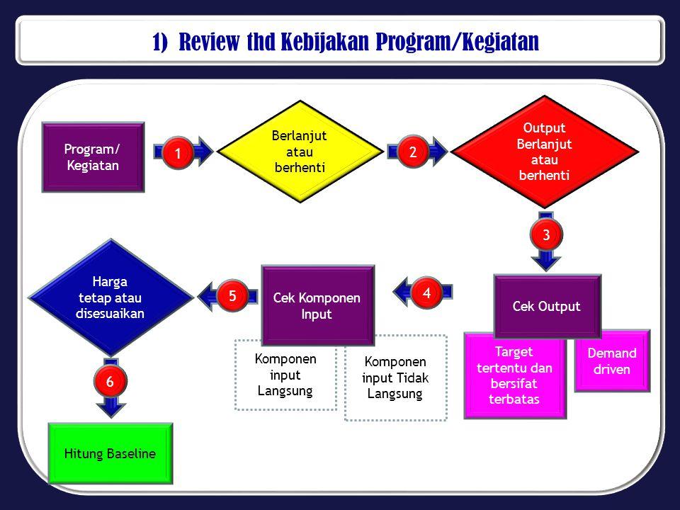 1) Review thd Kebijakan Program/Kegiatan