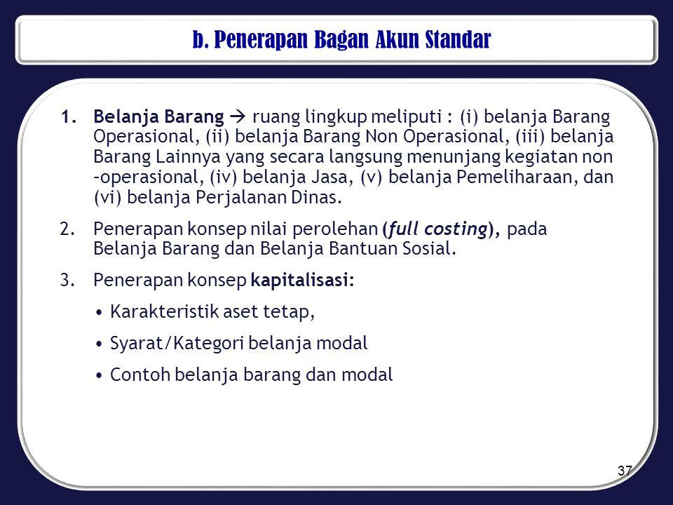 b. Penerapan Bagan Akun Standar