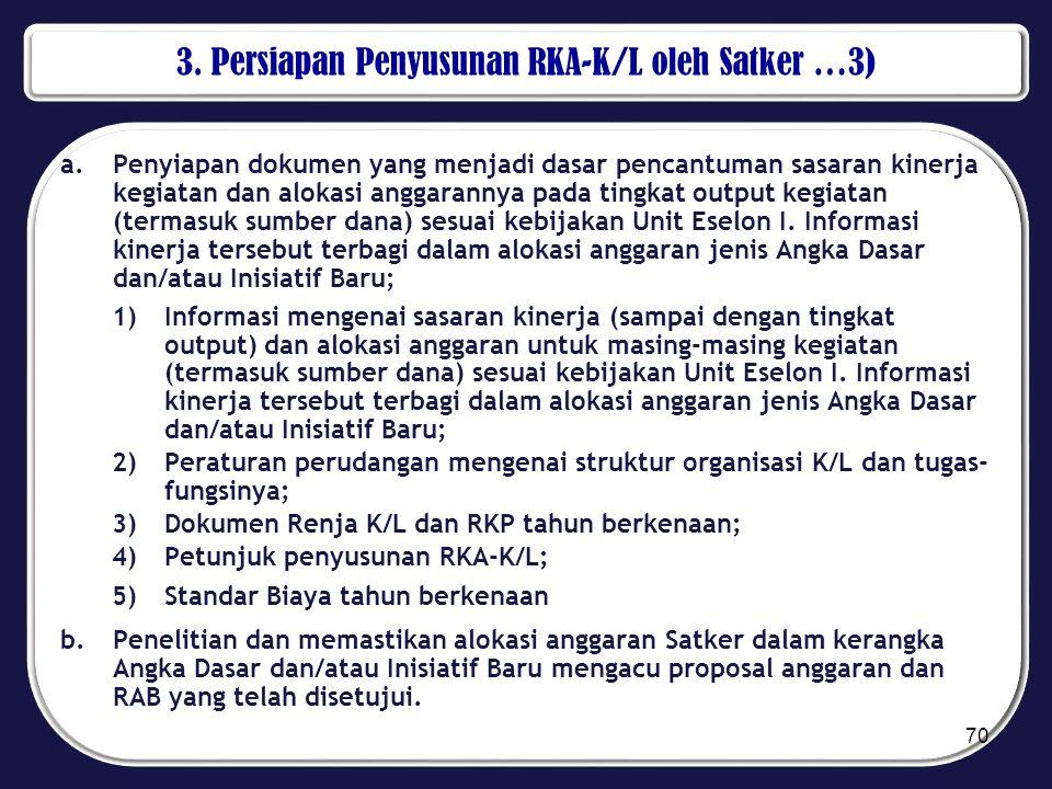 3. Persiapan Penyusunan RKA-K/L oleh Satker …3)