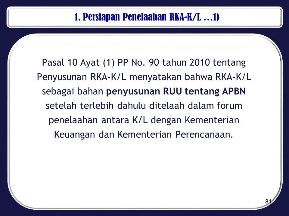 1. Persiapan Penelaahan RKA-K/L …1)