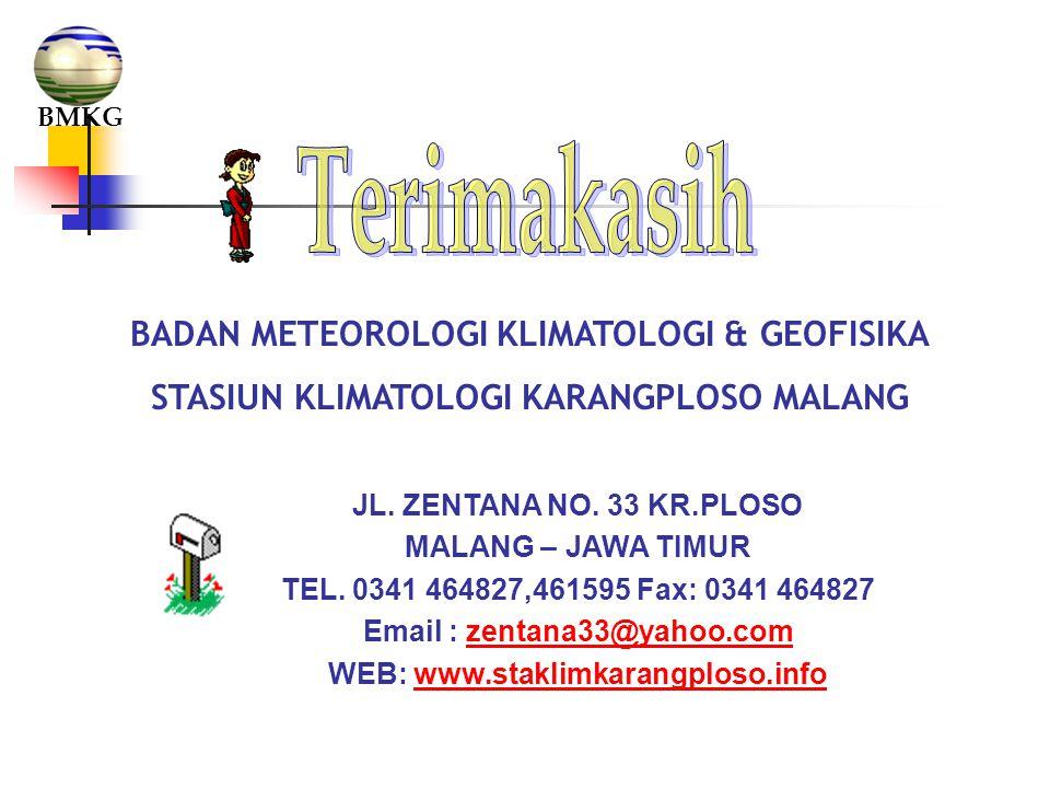 Terimakasih BADAN METEOROLOGI KLIMATOLOGI & GEOFISIKA
