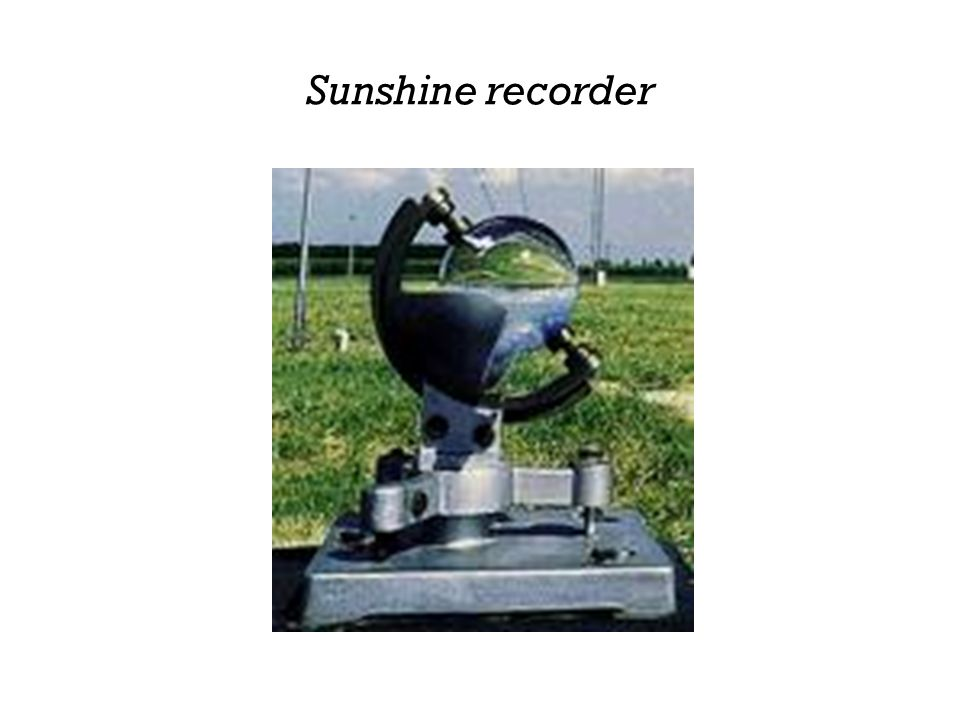 Sunshine recorder