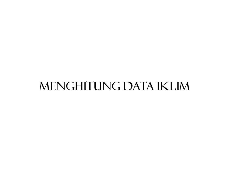 MENGHITUNG DATA IKLIM