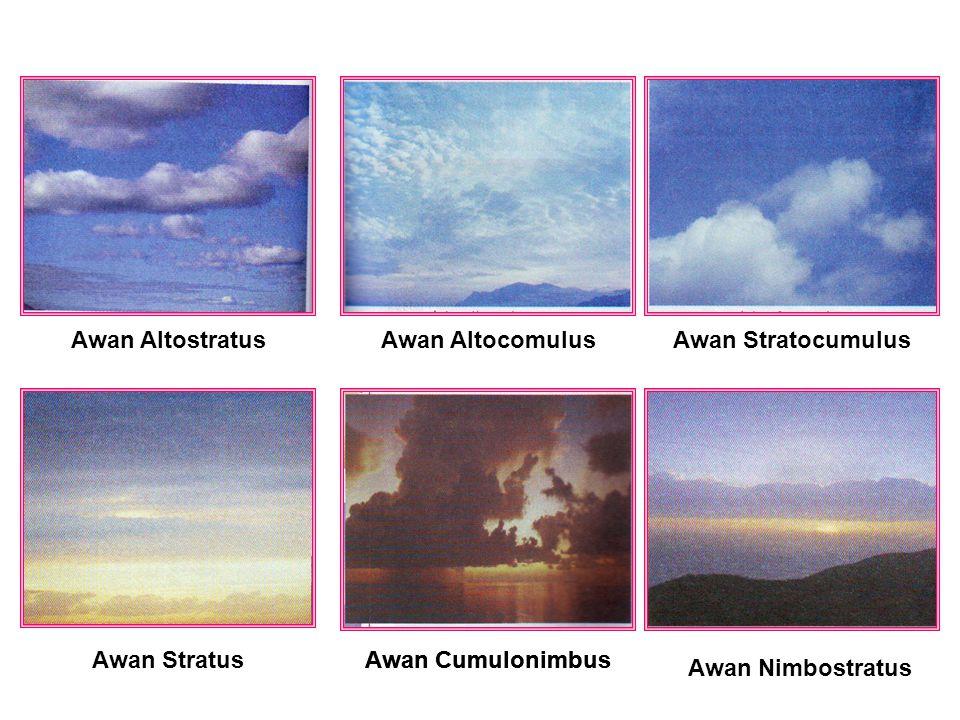 Awan Altostratus Awan Altocomulus. Awan Stratocumulus. Awan Stratus. Awan Cumulonimbus. Awan Cumulonimbus.