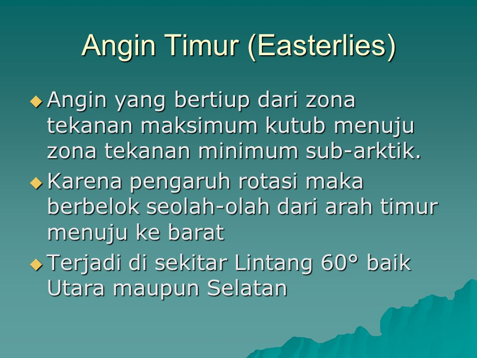 Angin Timur (Easterlies)