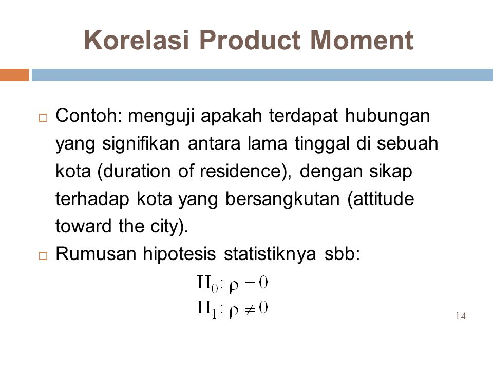 Korelasi Product Moment