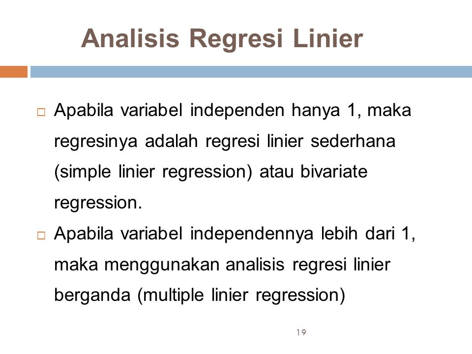 Analisis Regresi Linier