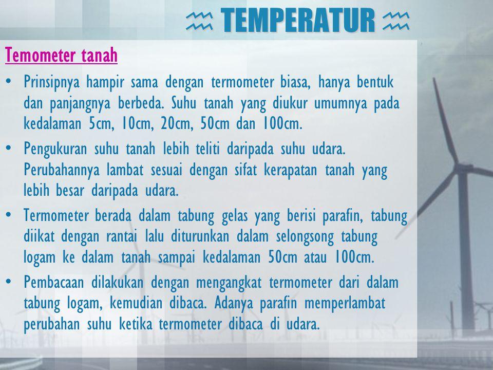  TEMPERATUR  Temometer tanah