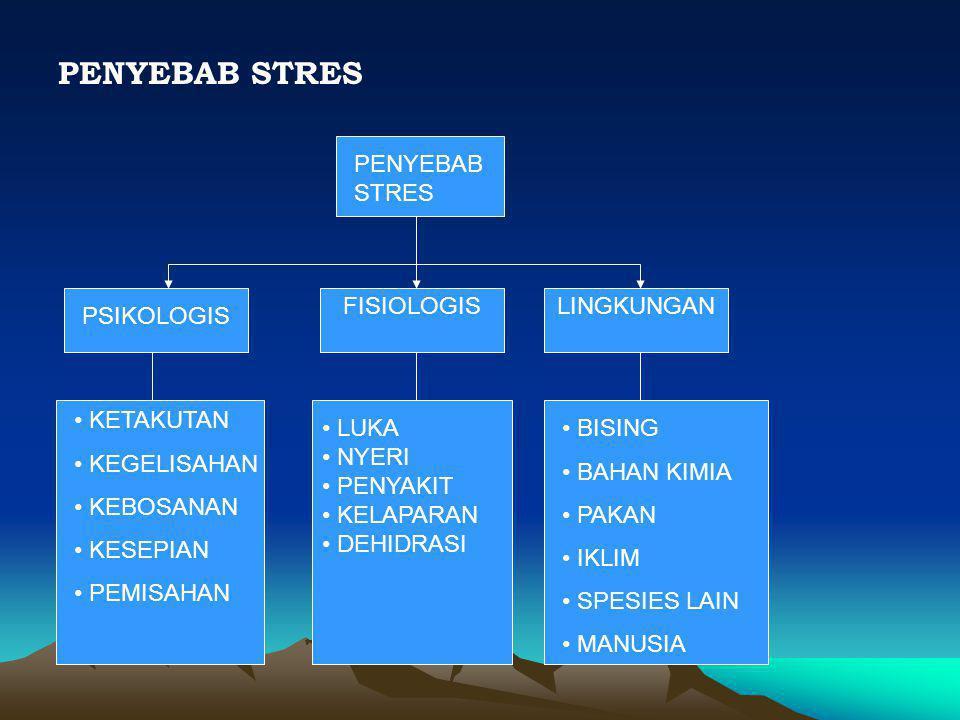 PENYEBAB STRES PENYEBAB STRES FISIOLOGIS LINGKUNGAN PSIKOLOGIS