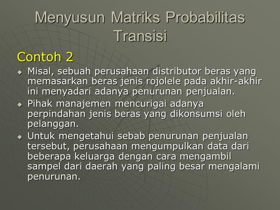 Menyusun Matriks Probabilitas Transisi