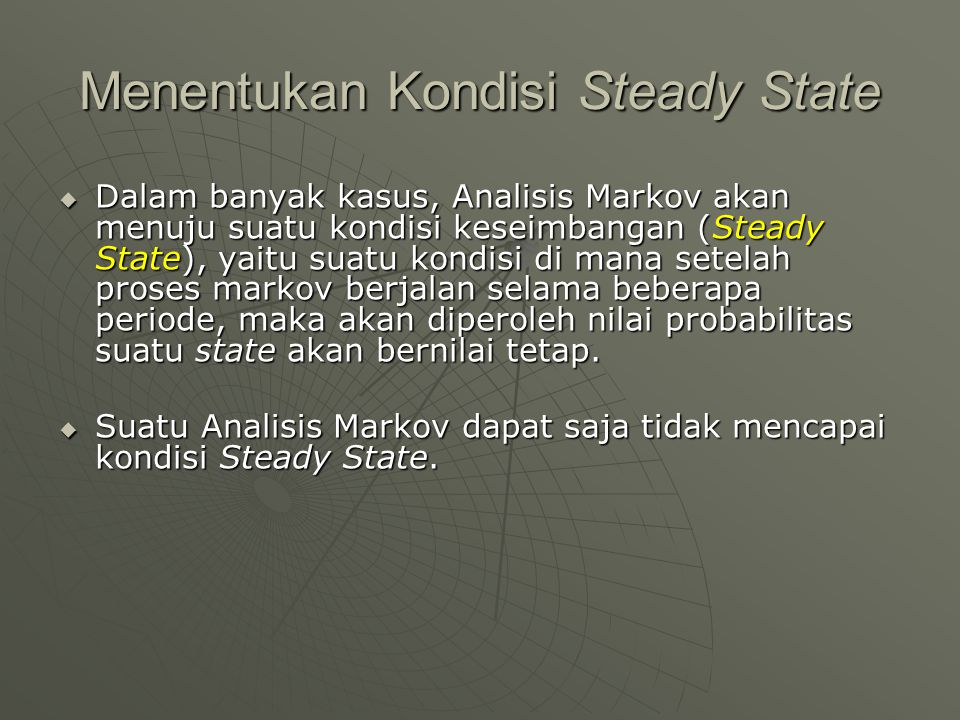 Menentukan Kondisi Steady State