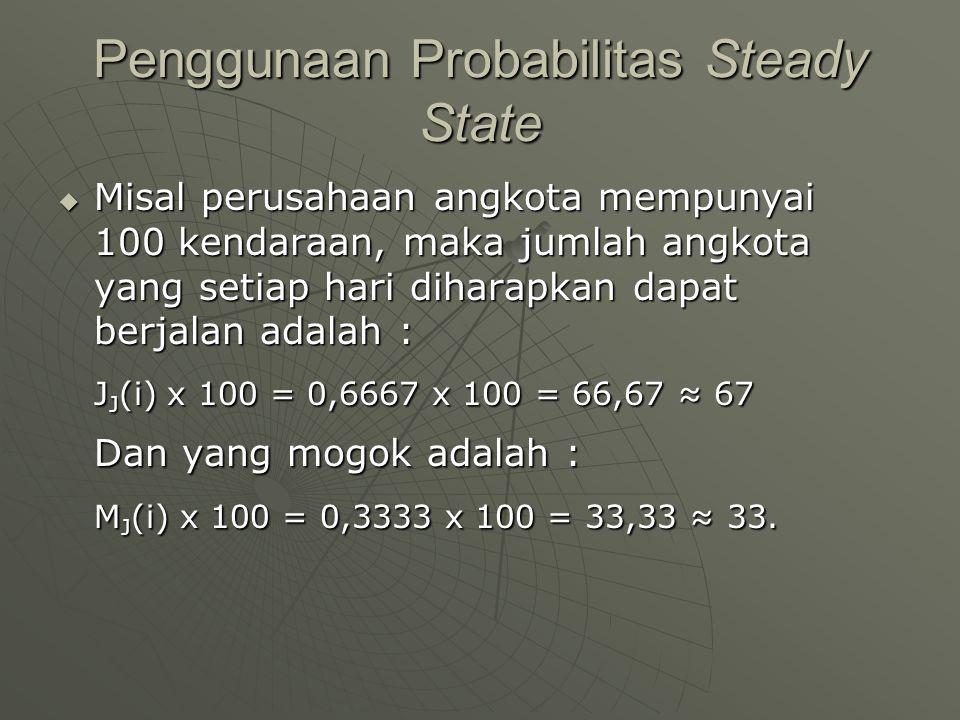 Penggunaan Probabilitas Steady State