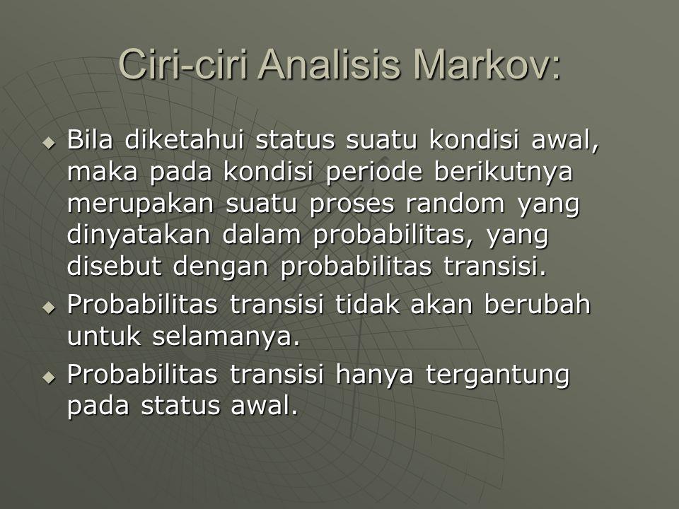 Ciri-ciri Analisis Markov: