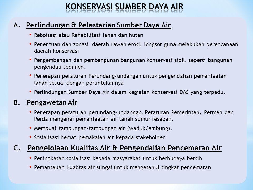 KONSERVASI SUMBER DAYA AIR