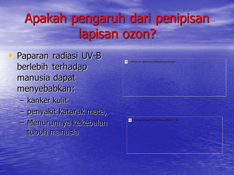 Apakah pengaruh dari penipisan lapisan ozon