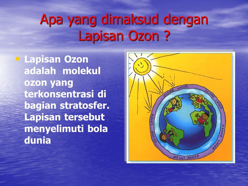 Apa yang dimaksud dengan Lapisan Ozon