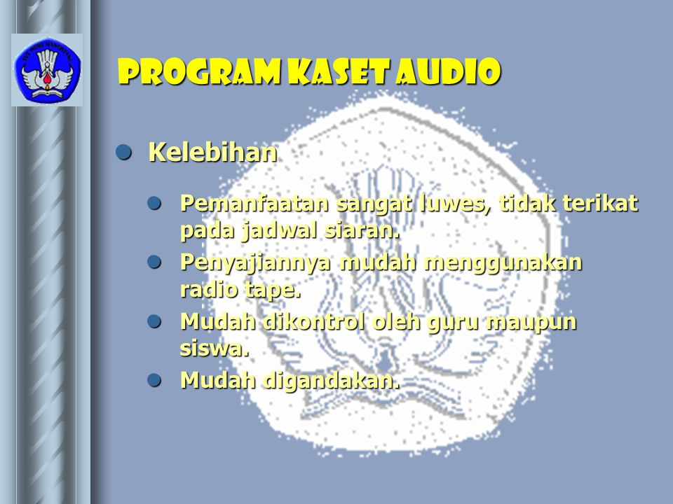 Program kaset AUDIO Kelebihan