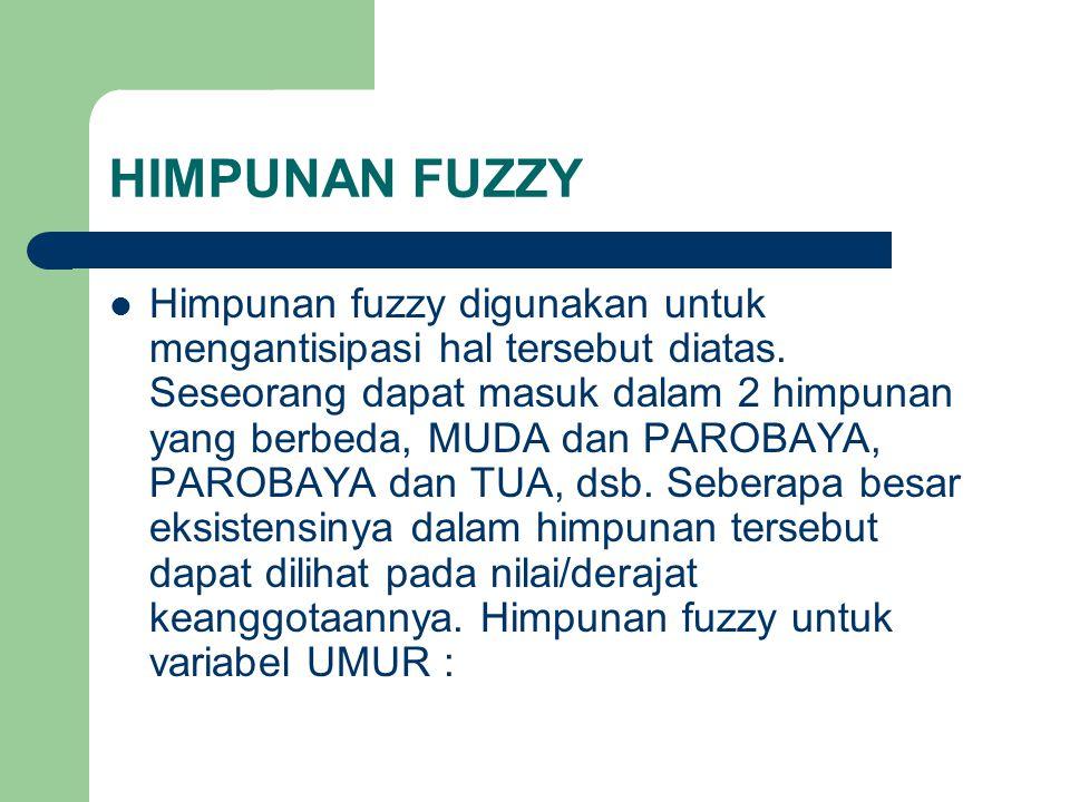 HIMPUNAN FUZZY