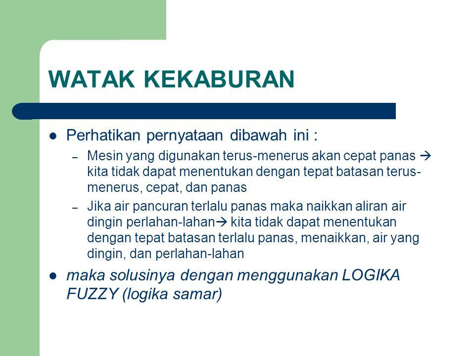 WATAK KEKABURAN Perhatikan pernyataan dibawah ini :