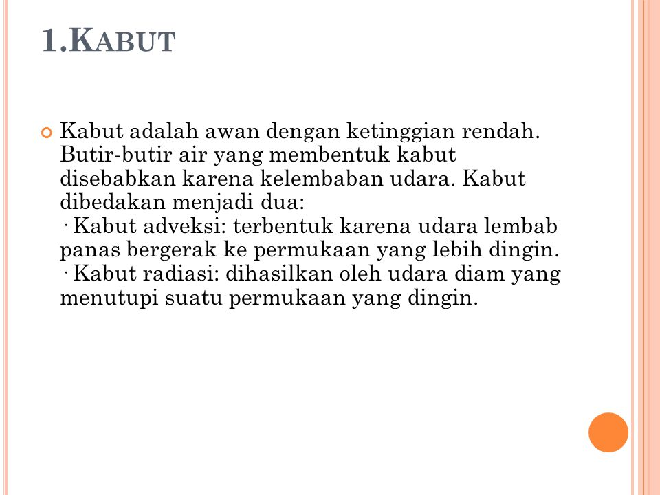 1.Kabut