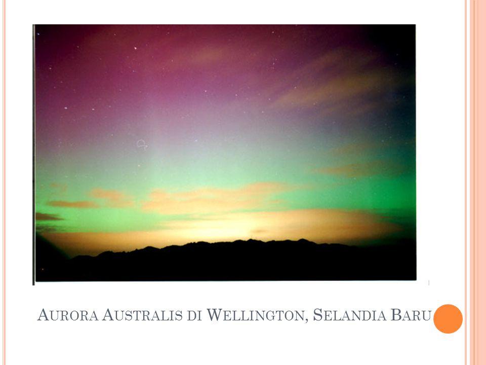 Aurora Australis di Wellington, Selandia Baru