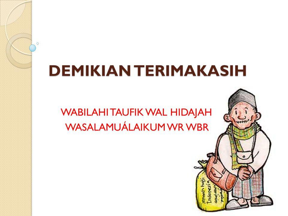 WABILAHI TAUFIK WAL HIDAJAH WASALAMUÁLAIKUM WR WBR