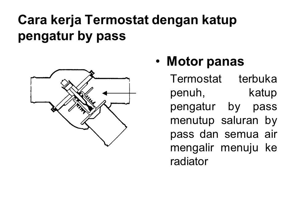 Cara kerja Termostat dengan katup pengatur by pass