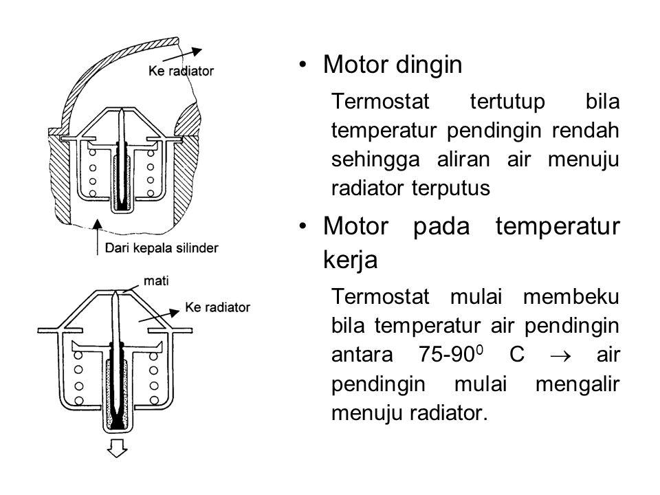 Motor pada temperatur kerja