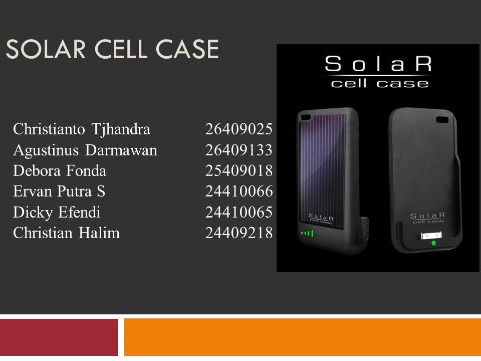 Solar cell case Christianto Tjhandra 26409025