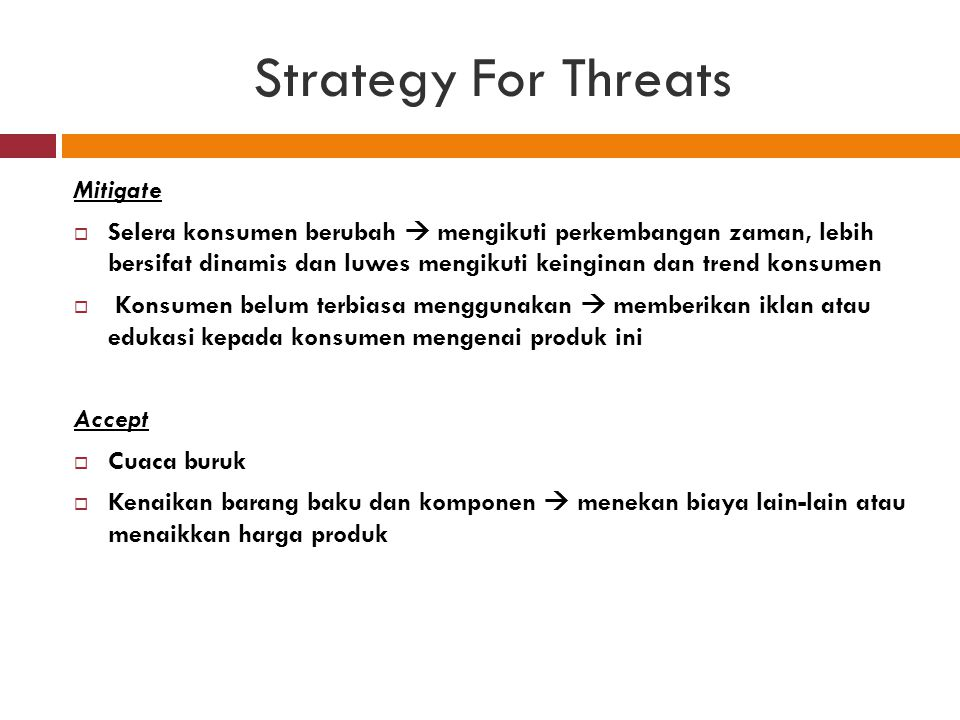 Strategy For Threats Mitigate