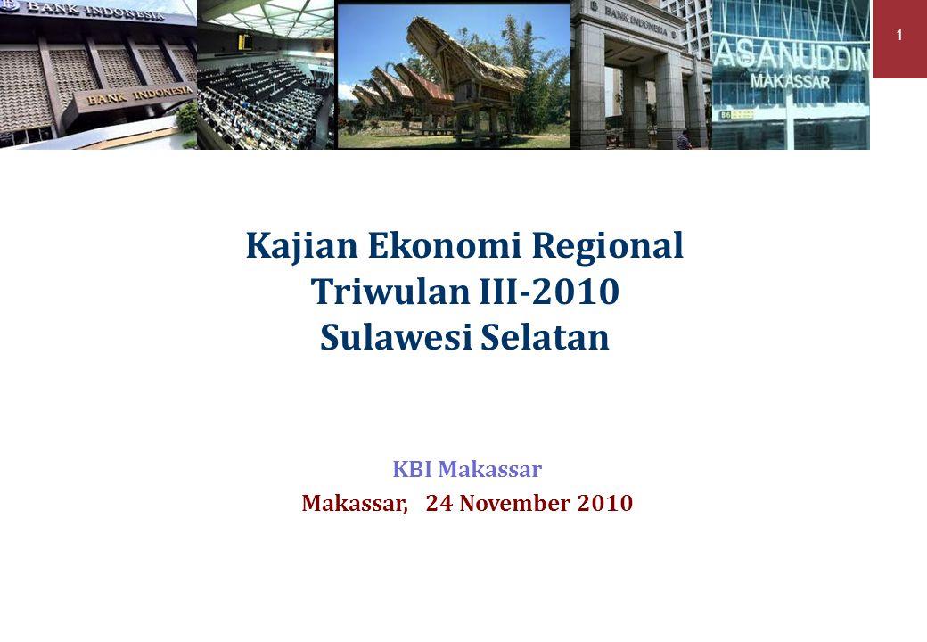 Kajian Ekonomi Regional Triwulan III-2010 Sulawesi Selatan