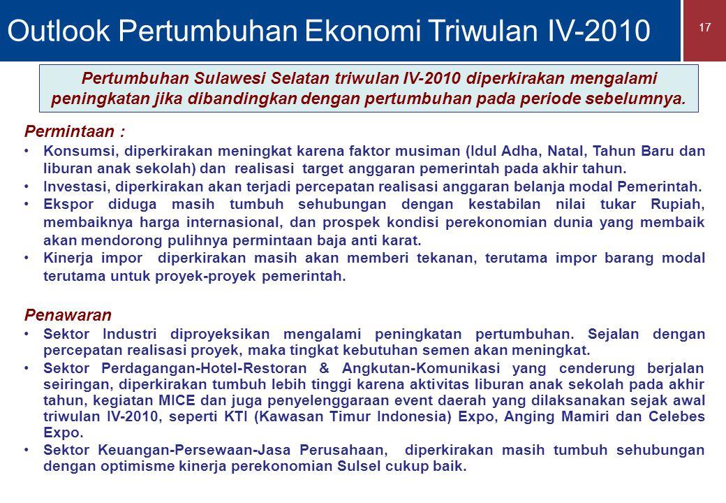 Outlook Pertumbuhan Ekonomi Triwulan IV-2010
