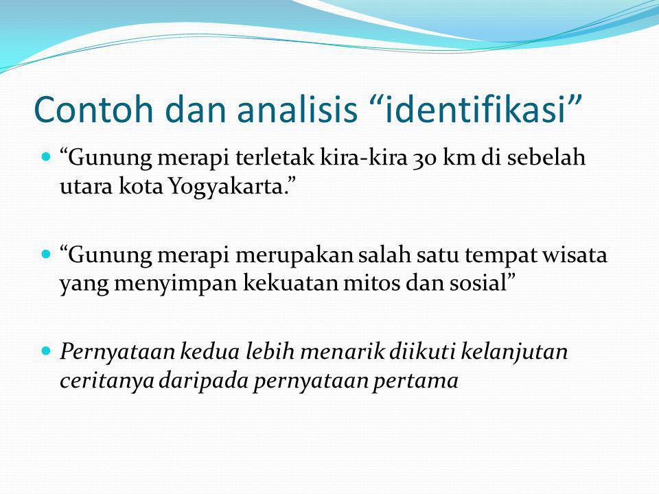 Contoh dan analisis identifikasi