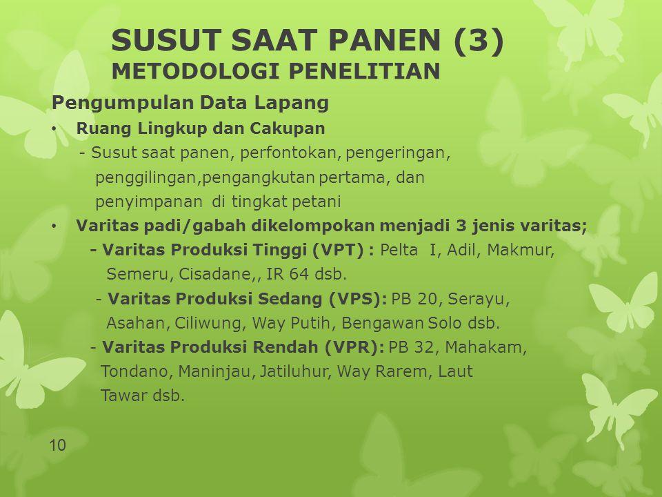 SUSUT SAAT PANEN (3) METODOLOGI PENELITIAN