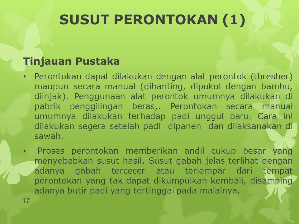 SUSUT PERONTOKAN (1) Tinjauan Pustaka
