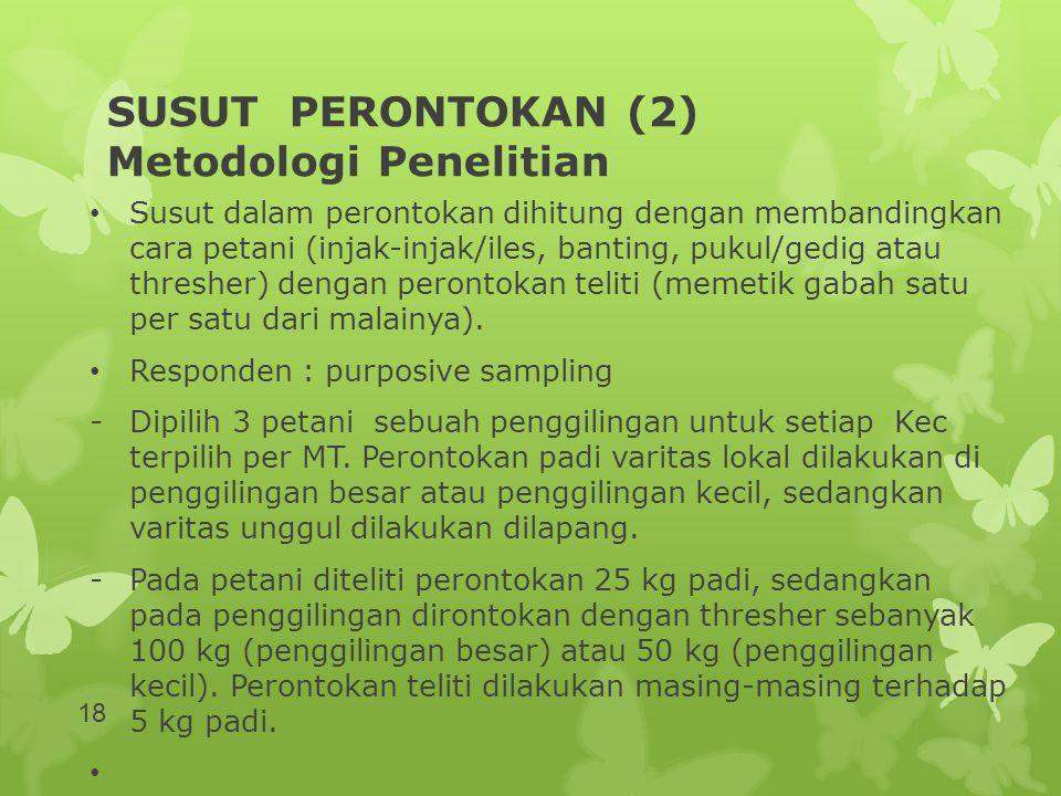SUSUT PERONTOKAN (2) Metodologi Penelitian
