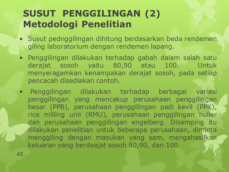 SUSUT PENGGILINGAN (2) Metodologi Penelitian