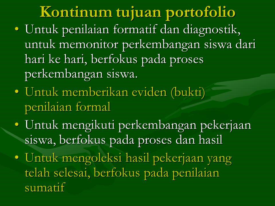 Kontinum tujuan portofolio