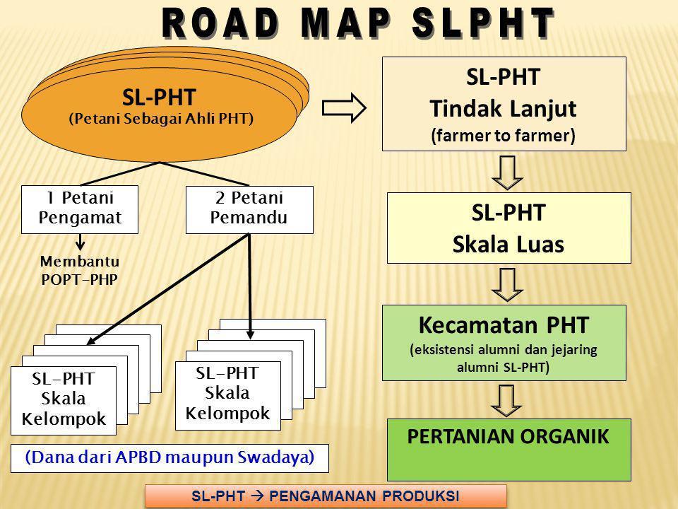 ROAD MAP SLPHT SL-PHT Tindak Lanjut SL-PHT SL-PHT Skala Luas