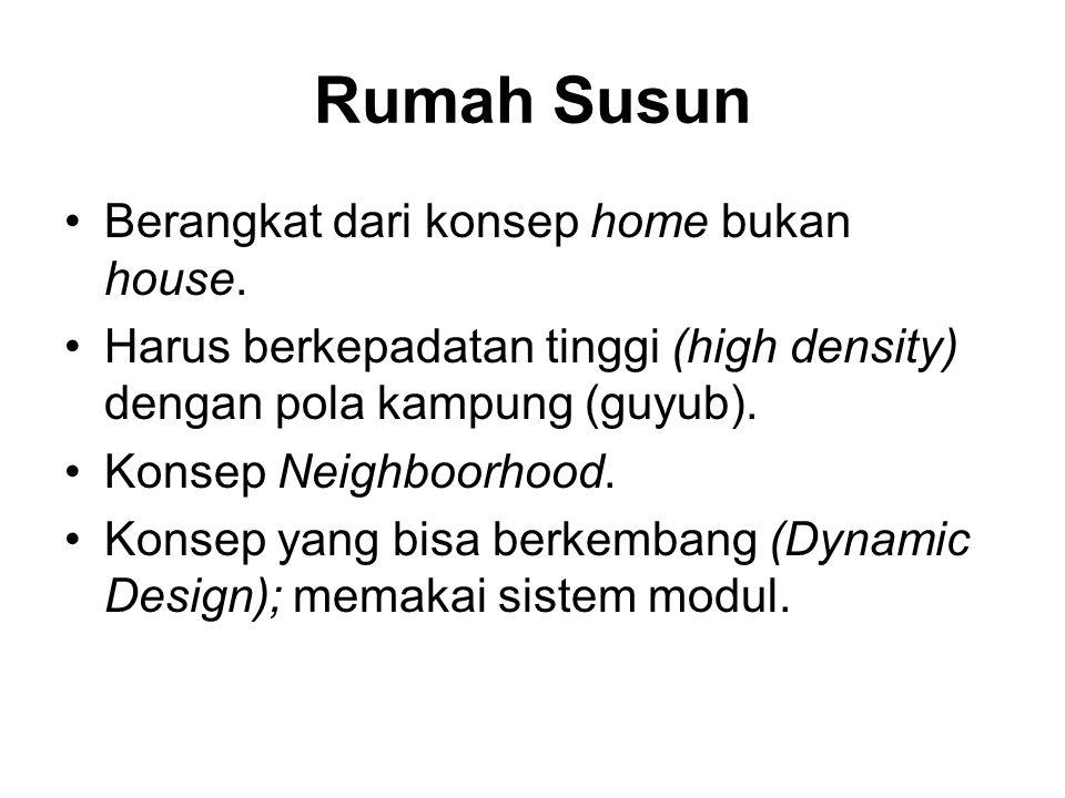 Rumah Susun Berangkat dari konsep home bukan house.