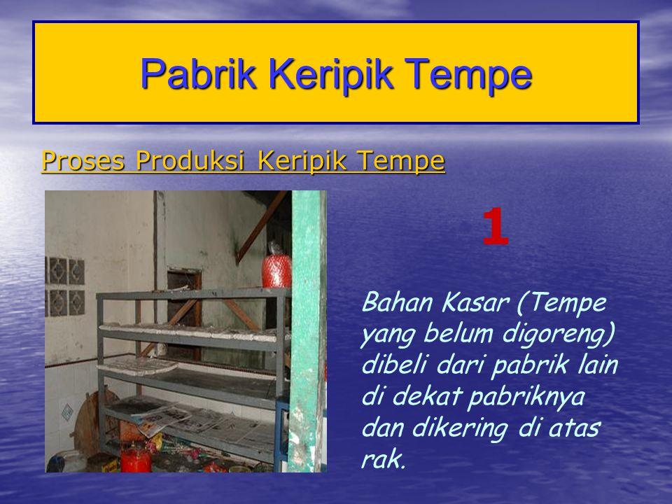 1 Pabrik Keripik Tempe Proses Produksi Keripik Tempe