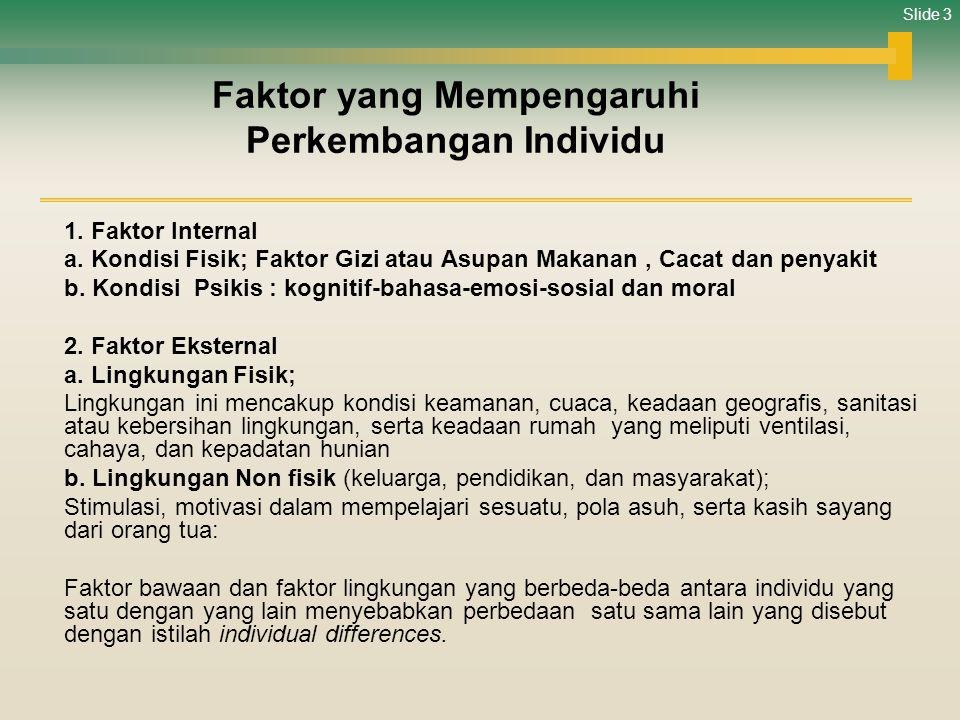 Faktor yang Mempengaruhi Perkembangan Individu