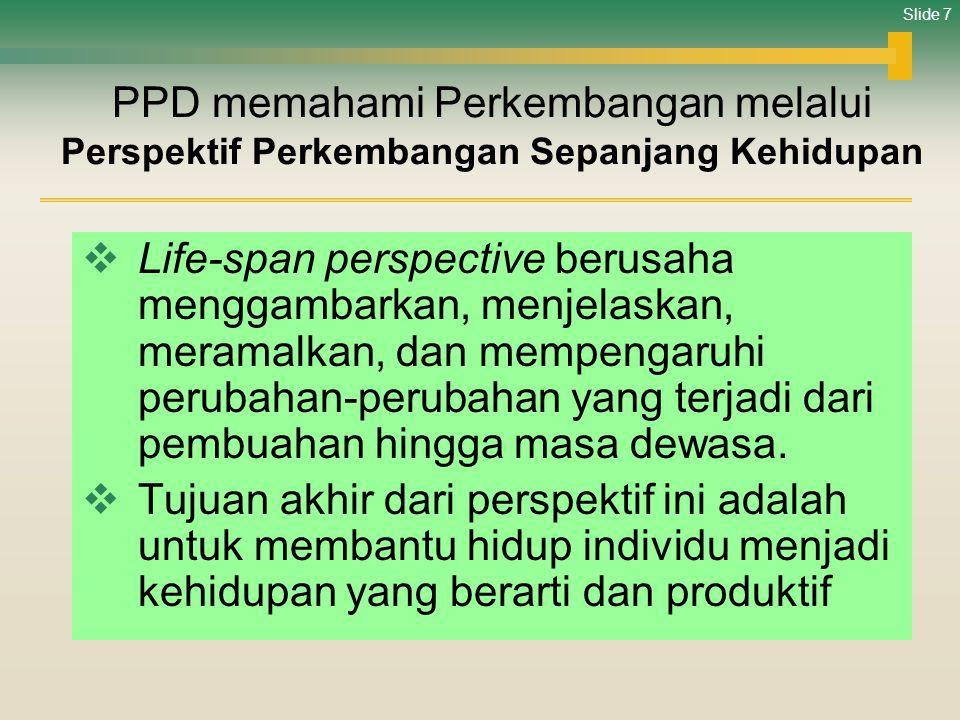 PPD memahami Perkembangan melalui Perspektif Perkembangan Sepanjang Kehidupan