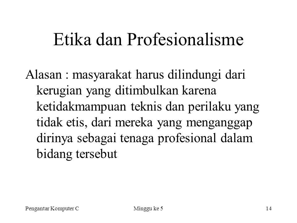 Etika dan Profesionalisme