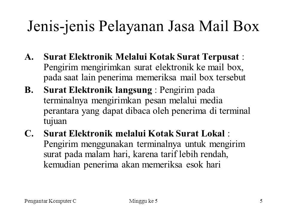 Jenis-jenis Pelayanan Jasa Mail Box