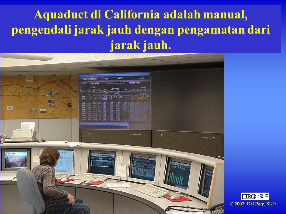 Aquaduct di California adalah manual, pengendali jarak jauh dengan pengamatan dari jarak jauh.