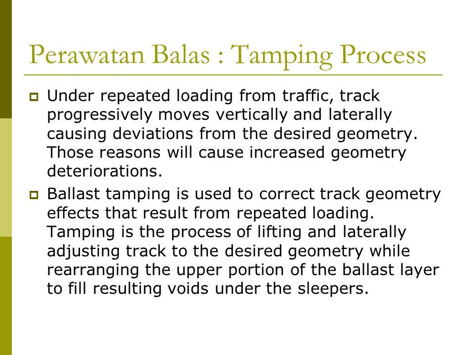 Perawatan Balas : Tamping Process
