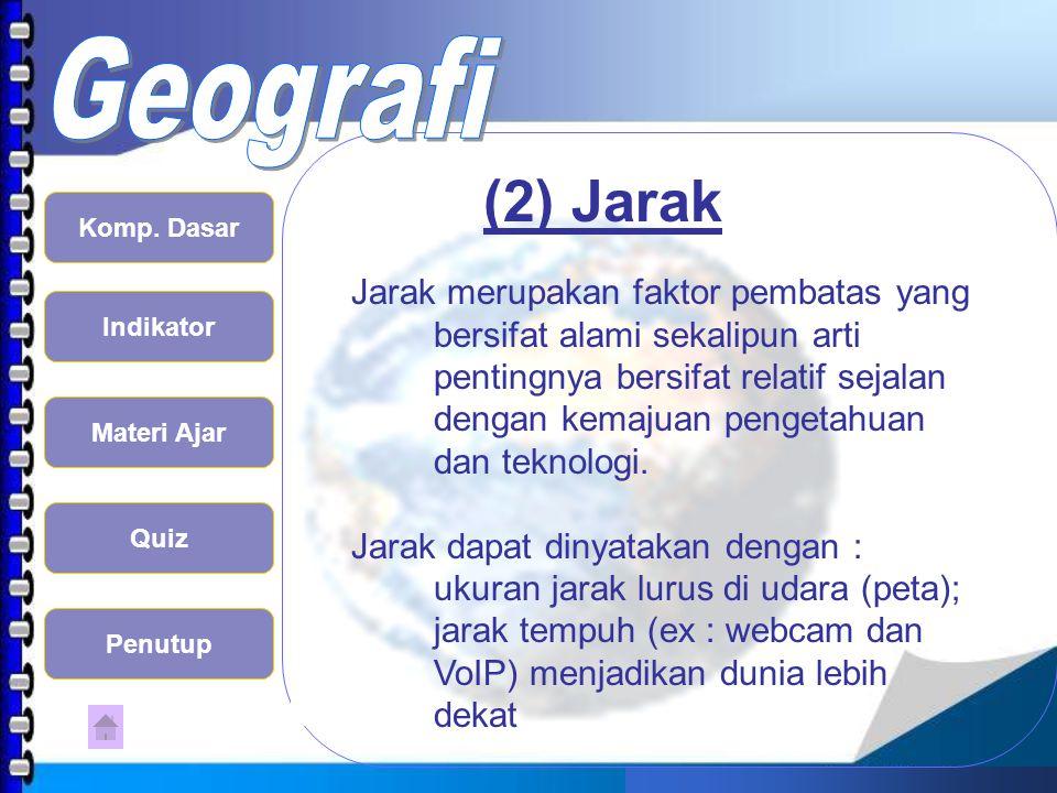 (2) Jarak